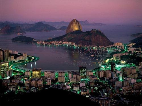 Brazil-Rio de Janeiro at night tourism destinations